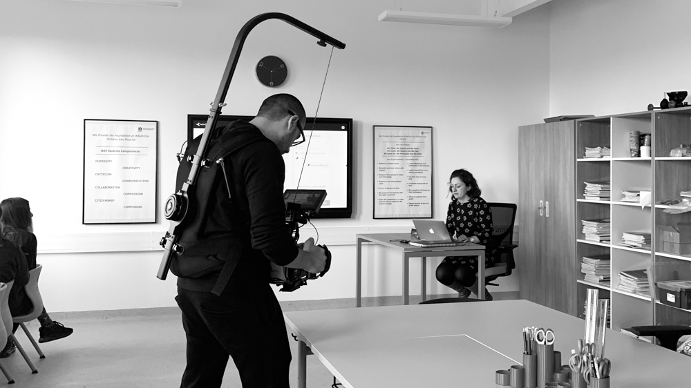 making-of British International School of Timisoara commercial by popotam productions video agency costin marian