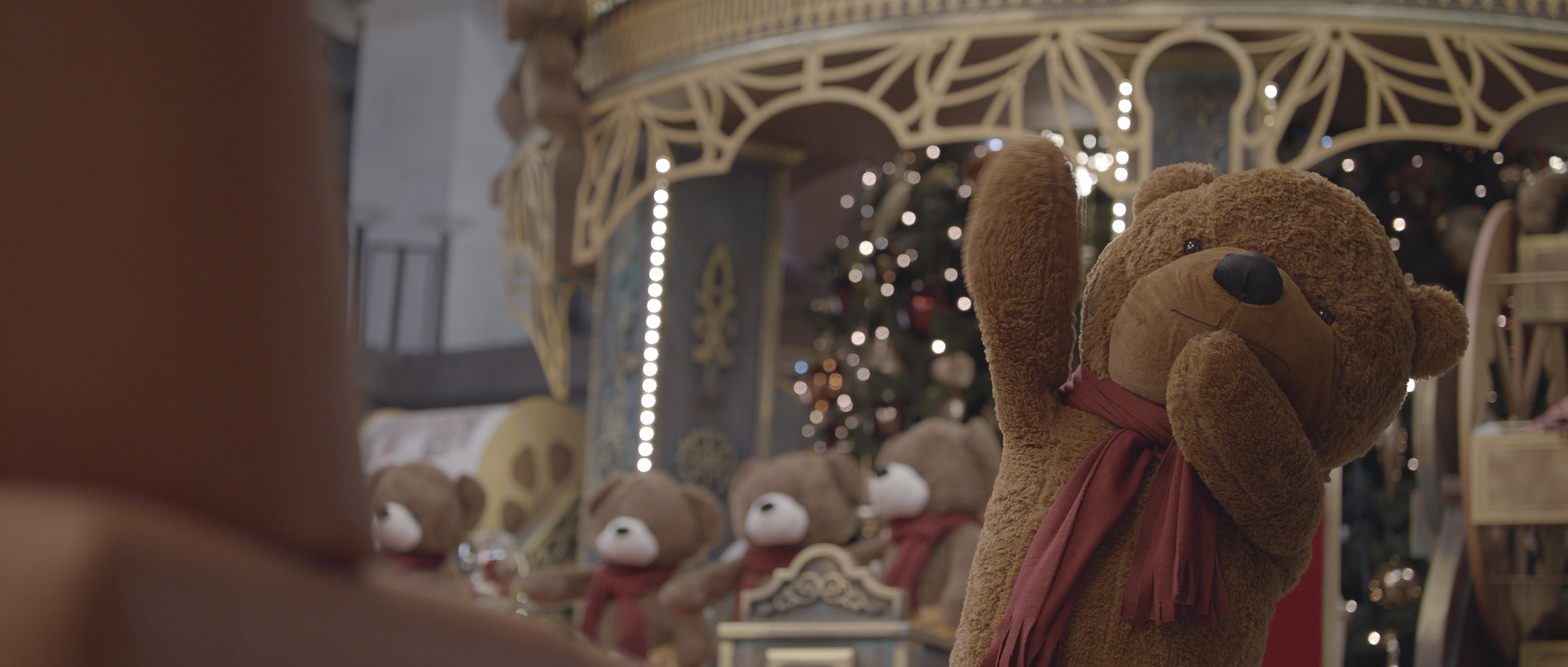 iulius town timisoara teddy bear christmas commercial popotam productions video agency before color grading