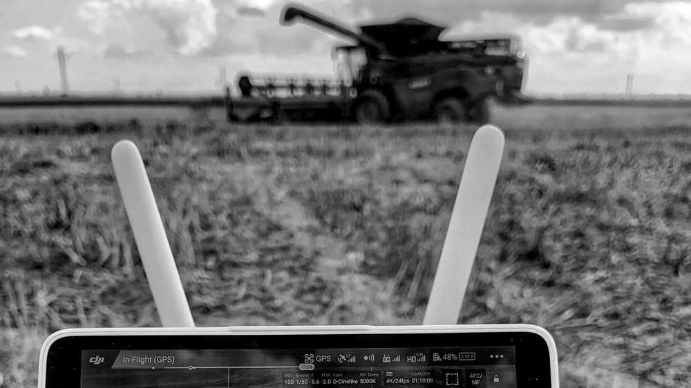making-of mewi services video by popotam productions video agency timisoara maria nistor and costin marian drone dji phantom 4 pro plus fendt ideal combine