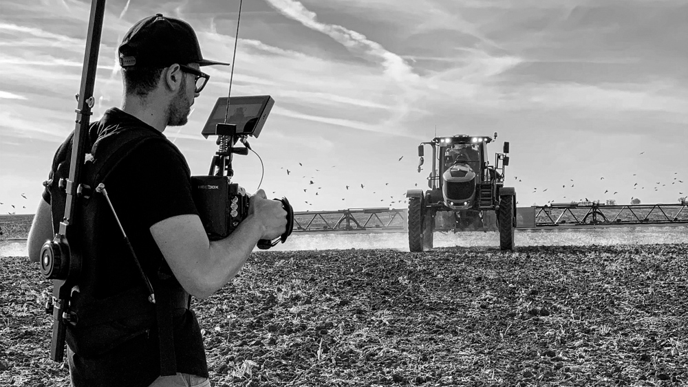 making-of mewi the farmers video by popotam productions video agency timisoara costin marian blackmagic ursa mini pro horsch sprayer filming