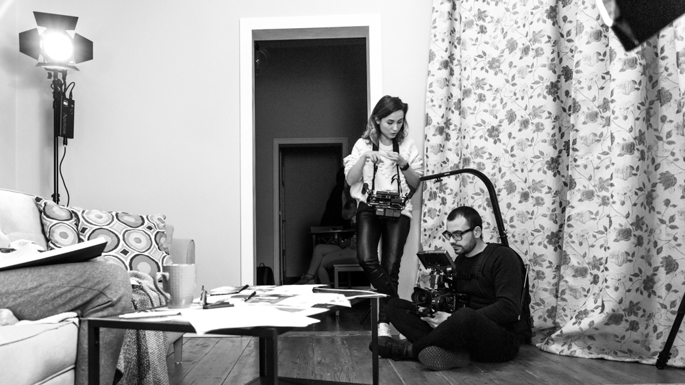 maria nistor and costin marian on set by popotam productions video agency timisoara